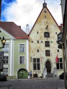 Standing Tall - Building in Old Town - Tallinn Estonia - by Anika Mikkelson - Miss Maps - www.MissMaps.com