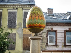 The Egg - Much Like in Ukraine - Villnius Lithuania - by Anika Mikkelson - Miss Maps - www.MissMaps.com