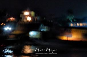 Blurred Boats in Dhaka Bangladesh - by Anika Mikkelson - Miss Maps - www.MissMaps.com