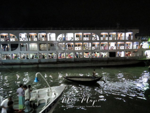 Night Boat from Dhaka to Sundarbans Bangladesh - by Anika Mikkelson - Miss Maps - www.MissMaps.com
