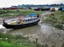 Colorful Boats with Nowhere to Go - Mongla Bangladesh - by Anika Mikkelson - Miss Maps - www.MissMaps.com