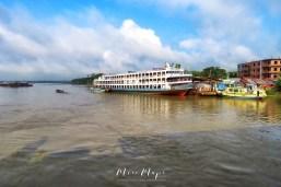 Rocket Steamer Ship at Rest - Views from the Rocket Steamer Boat - Dhaka to Sundarbans Bangladesh - by Anika Mikkelson - Miss Maps - www.MissMaps.com