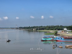 Boats Crossing the River - Rural Bangladesh - by Anika Mikkelson - Miss Maps - www.MissMaps.com