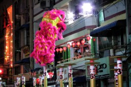Lion Dance Competition - Chinese New Year - Chinatown - Yangon Myanmar - by Anika Mikkelson - Miss Maps - www.MissMaps.com