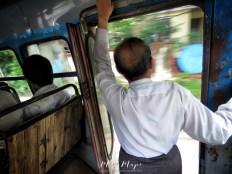 Riding the Bus with the Tea Man - Yangon Myanmar - by Anika Mikkelson - Miss Maps - www.MissMaps.com