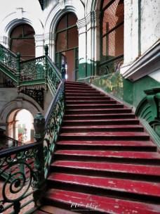Secretariat Building Staircase - Yangon Myanmar - by Anika Mikkelson - Miss Maps - www.MissMaps.com