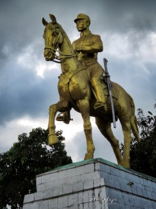 Statue of General Aung San - Pagu Bago Myanmar - by Anika Mikkelson - Miss Maps - www.MissMaps.com