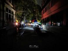 Street Vendors During a Blackout - Downtown - Yangon Myanmar - by Anika Mikkelson - Miss Maps - www.MissMaps.com