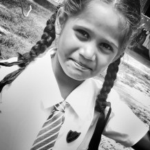 This schoolgirl was eager to walk with me - Galle Sri Lanka - by Anika Mikkelson - Miss Maps - www.MissMaps.com