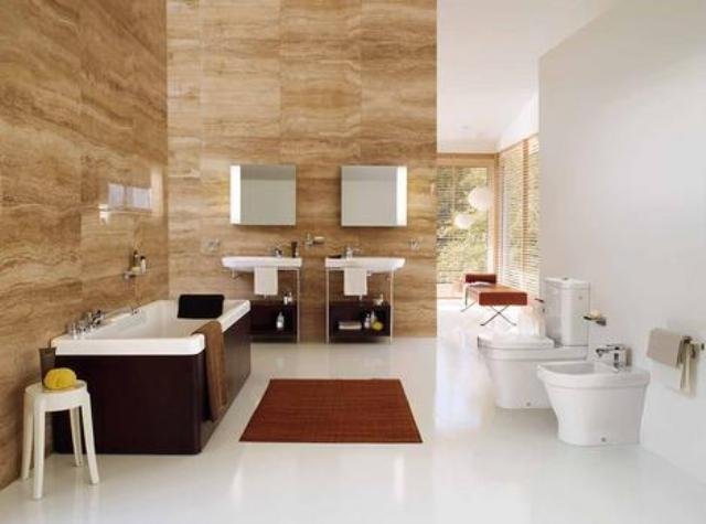 Modern Bathroom Design With Glass Roof