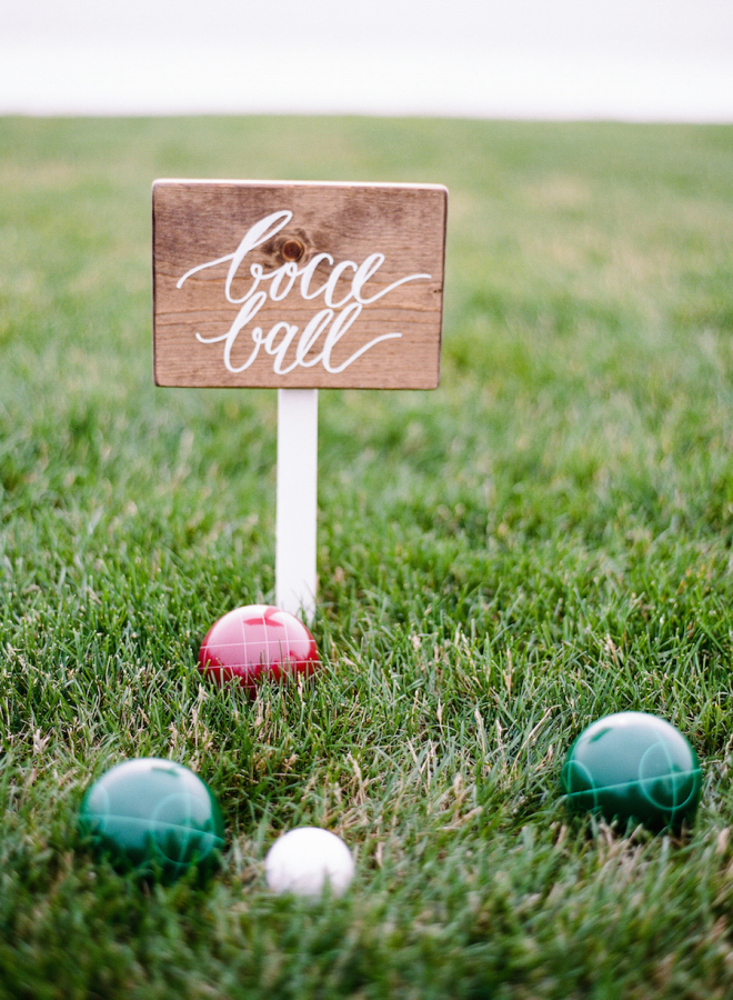 bocce event styling