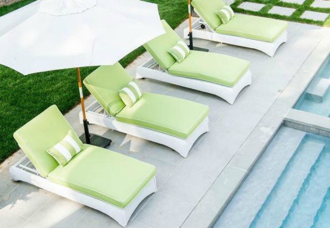 Hamptons Style Poolside Decor
