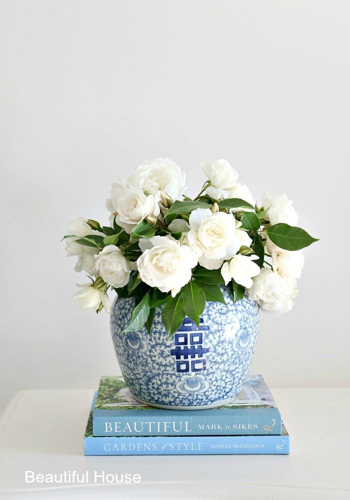 Blue and white decor