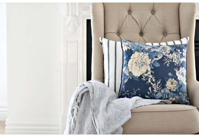 Blue & White Cushion Edit