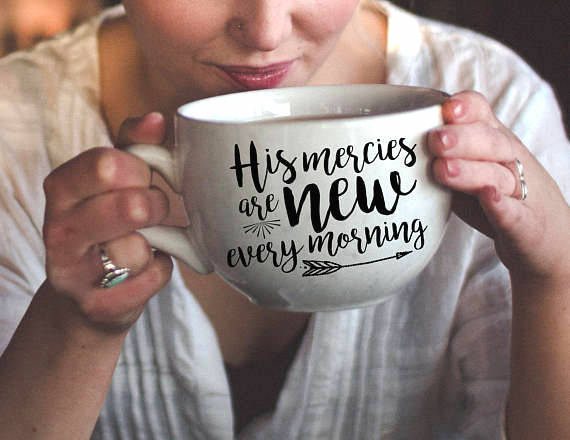 His mercies are new every morning vinyl decal