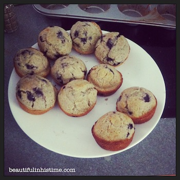 22 blueberry muffins