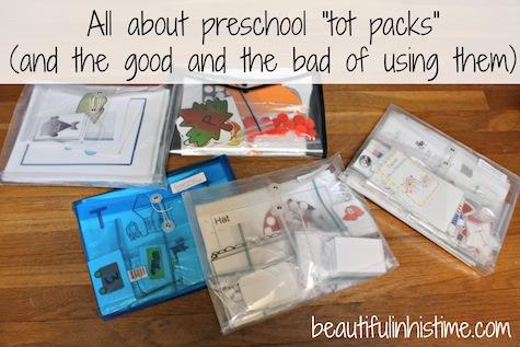all about preschool tot packs