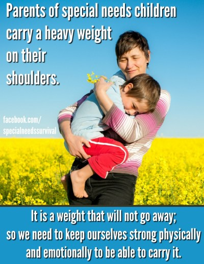 Special needs parents carry a heavy weight on their shoulders. Self care for autism moms.
