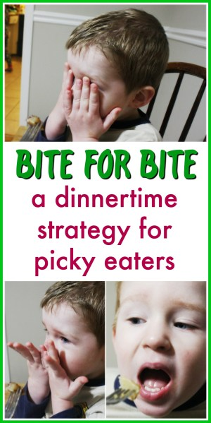 Bite for bite: a dinnertime strategy for picky eaters | how to get your kids to eat when they refuse to open their mouth | dinner with kids | picky toddlers