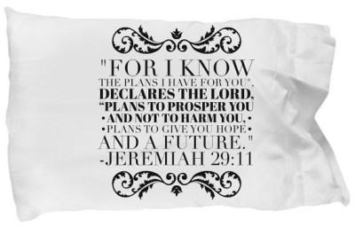 Jeremiah 29:11 Pillow Case