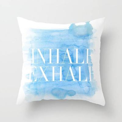 Inhale Exhale Watercolor Pillow
