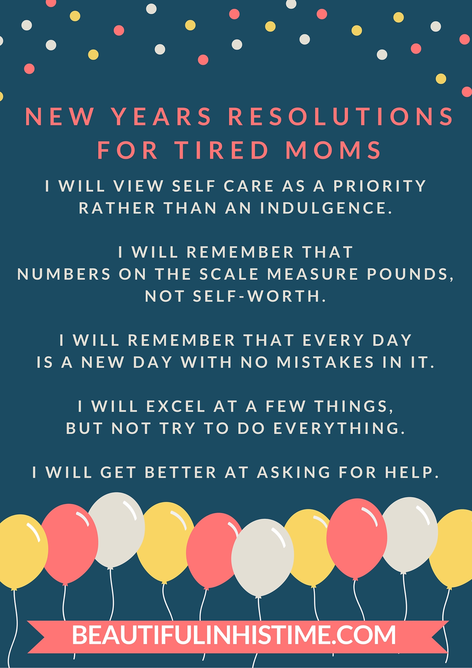 New Years Resolutions For Tired Moms A Free Printable