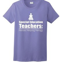 """Heroes Helping Heroes"" special education teacher t-shirt (available in 11 colors!)"
