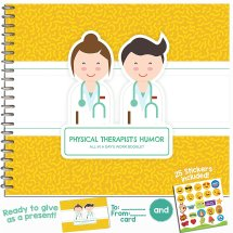Personalizable Humor Booklet With Card for Your Favorite Physical Therapist