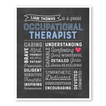 Occupational Therapist Chalkboard Art