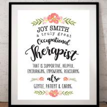 Occupational Therapist Printable: Print & Frame