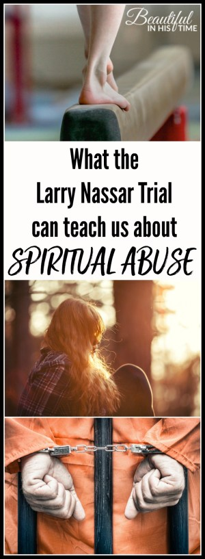 "What the Larry Nassar trial can teach us about the lingering effects of spiritual abuse | But just because someone is ignorant of abuse does not mean that the abuse was any less legitimate.  That ignorance also gives the victim another layer of pain to work through. Not just ""I was abused..."" but also, ""How did I not realize I was being abused?"""