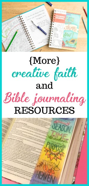 I have found that approaching faith, the Bible, and spiritual disciplines with creativity rather than duty has been helpful for me. More Scripture coloring books, journals, and Bible journaling templates for faith-based creatives.