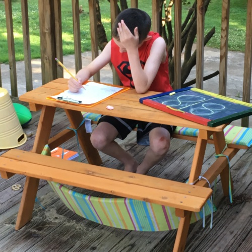 The beauty of homeschooling: lessons outside!