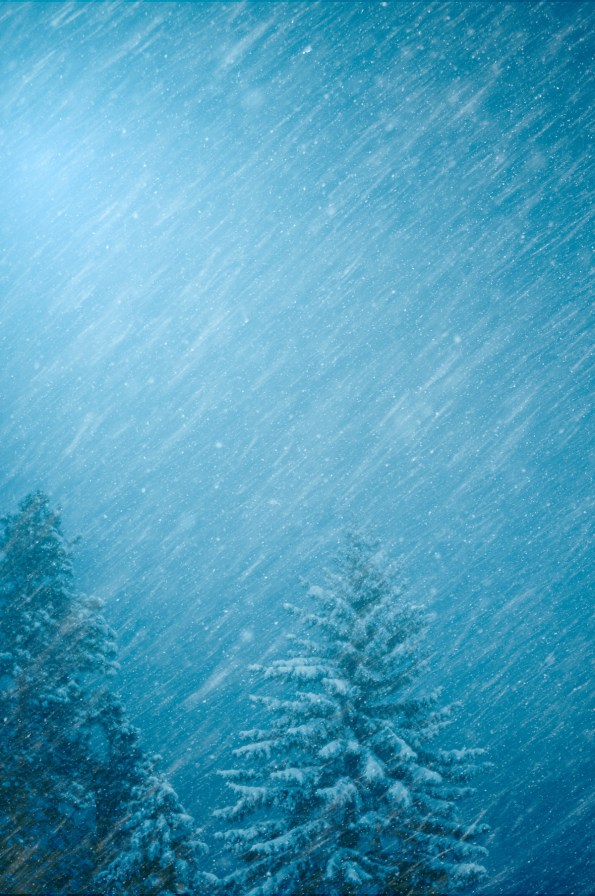 Blue Snow Storm