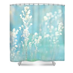 Spring Shower Curtain - Turquoise Dreams