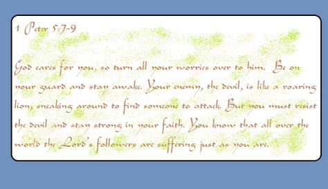 1 Peter 5 7-9