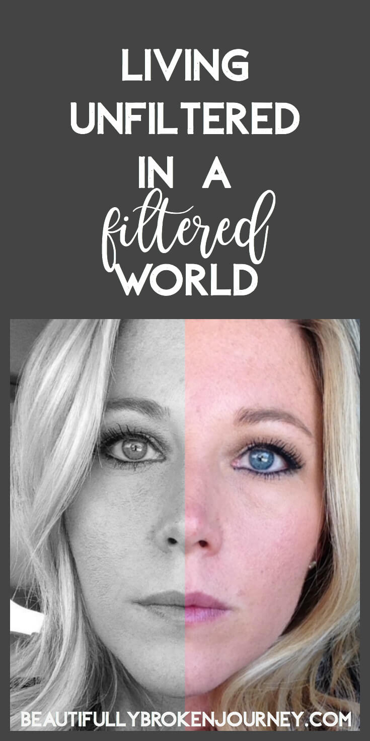 Owning your story and using it for purpose in a world that is always seeking perfection isn't the norm.  But, living unfiltered in a filtered world, is freeing.