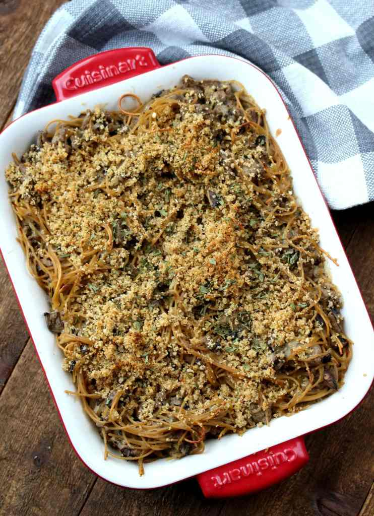 This Turkey Tetrazzini Casserole is easy, healthy and has been a family favorite of ours for years!  If you are looking for a recipe for your meal plan, this is it!