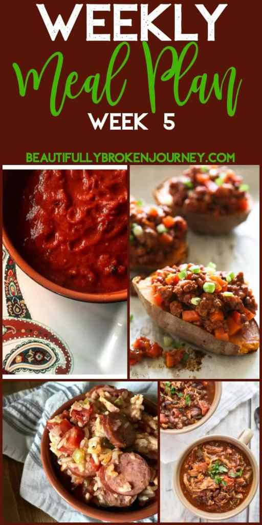 Beautifully Broken Journey Weekly Meal Plan