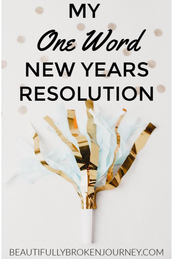 One Word New Years Resolution #newyear #newyearsresolution