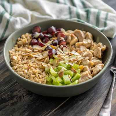Healthy Chicken Salad Brown Rice Bowl