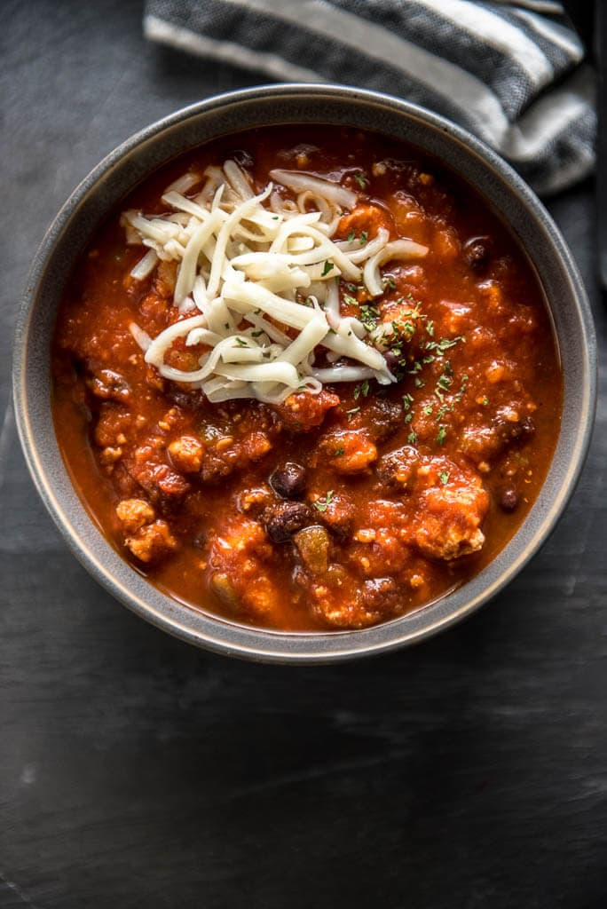 Slow Cooker Healthy Chicken Chili