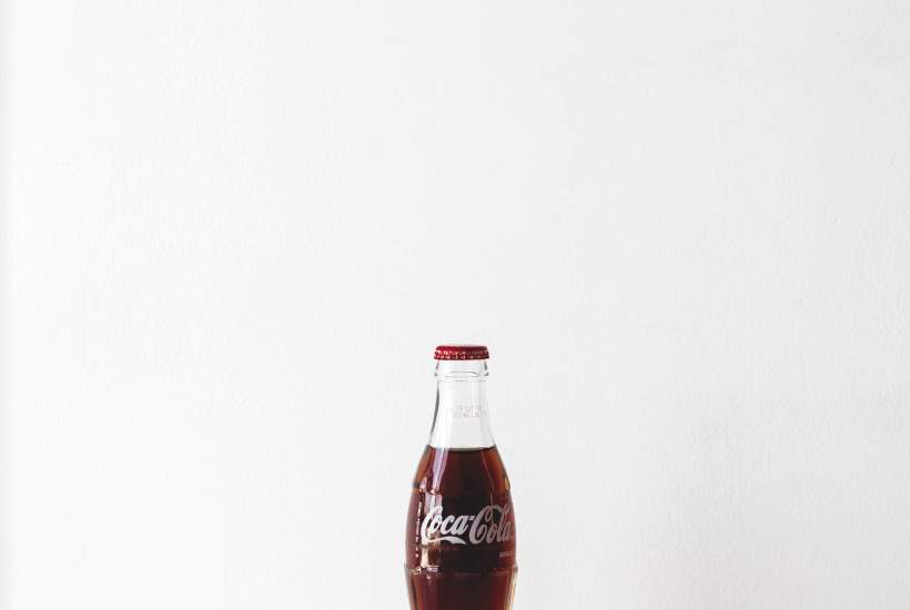 Bottle of Coca-Cola on a white background