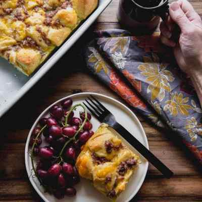 Breakfast Casserole with Biscuits
