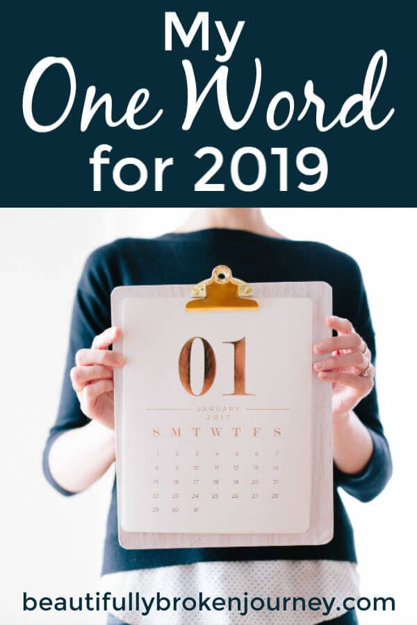 My one word of the year for 2019 is patience. #newyears #oneword