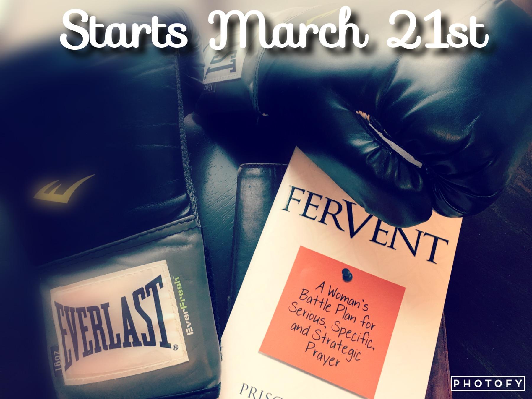 Fervent Bible Study Starts Sunday - Beautifully Designed