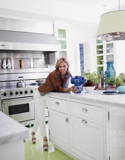 Tory Burch's White Kitchen