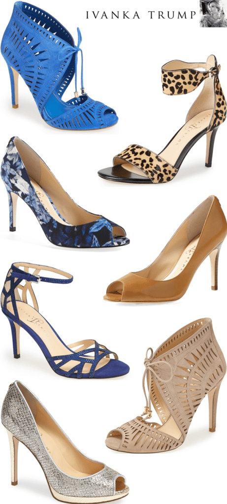 I love pretty, feminine shoes and it took me two seconds to pick out my  favorite Ivanka Trump shoes that are available online at Nordstrom.