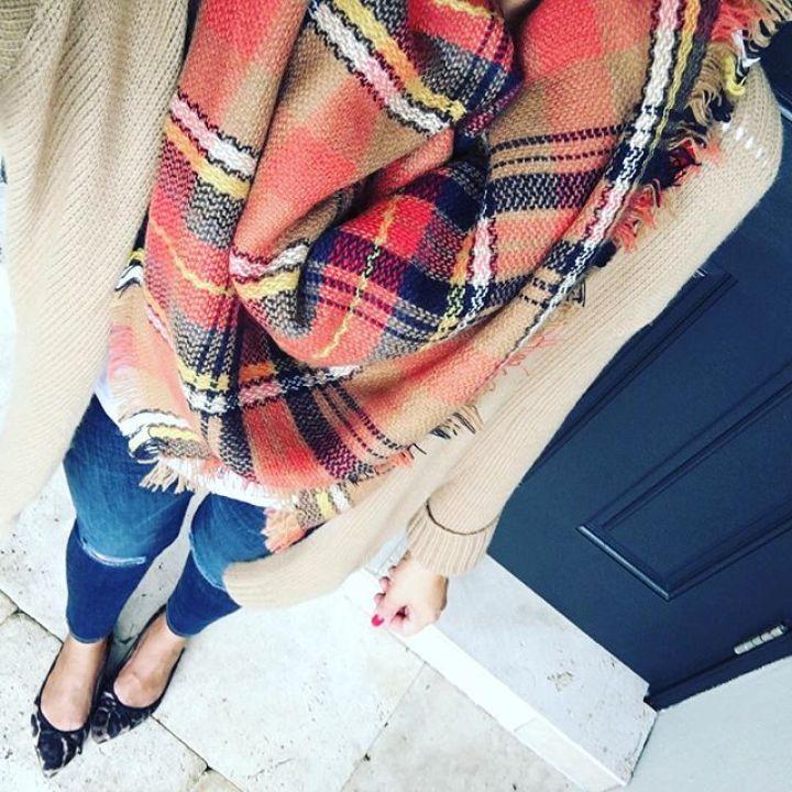 autumn plaid scarf
