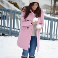 COZY BLUSH STATEMENT COAT